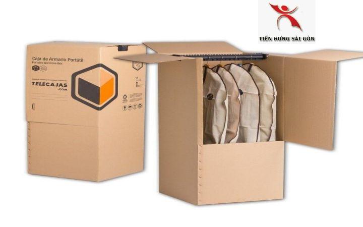 In thùng carton đựng hàng may mặc xuất khẩu tại quận 4