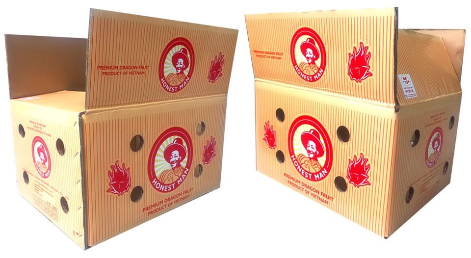 In thùng carton đựng trái cây tại quận 5
