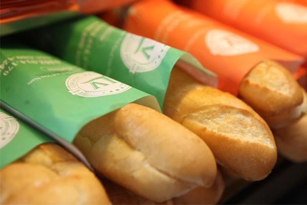 In túi giấy đựng bánh mì tiện lợi